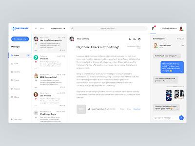 Dropnote - Email App Concept messages interface inbox conversation chat desktop mobile app concept email ux ui