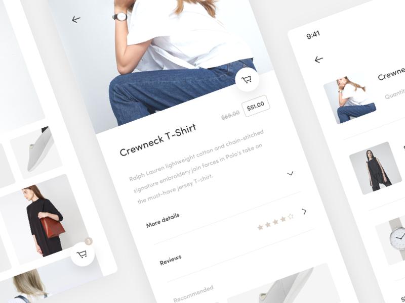 Fashion App - UI Design (Sketch Freebie) freebie ios product ux ui minimal shop mobile e-commerce store app fashion