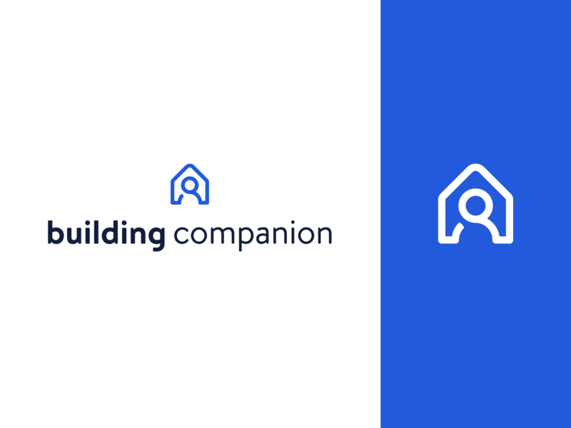 Building Companion search people planner construction brand branding mark home house companion building identity logo
