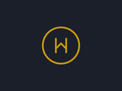 HW Monogram simple identity symbol mark monogram w h london private home house consultancy branding logo
