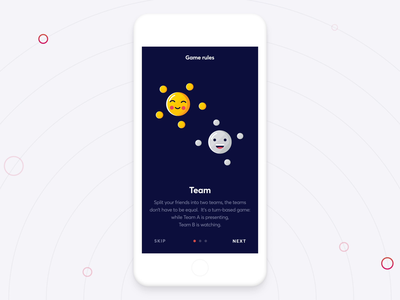 Wordguru Game - Rules smooth fluid animation interaction app game keyword ios design desktop mobile game app ui onboarding cards pwa vue verbal topic rules