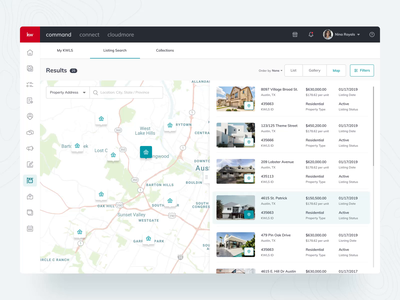 Keller Williams: Own and manage your Listings 🏘 product design ux ui buy sell modern design command franchise agent app dashboard property map animation interaction home listings real estate keller williams