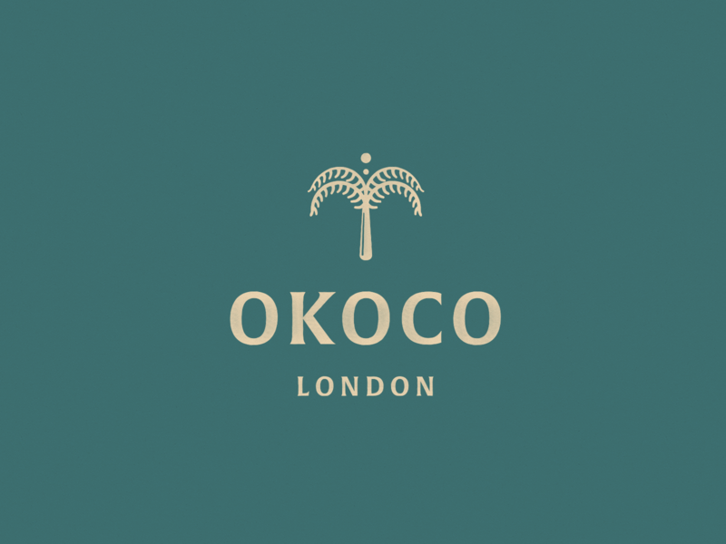 Okoco London texture typography icon branding logo design