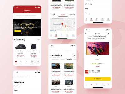 Tamkaro Online Shopping App discount mobile ui design modern ux design ux ui ecommerce commerce product app design sales marketing shopping online shopping online