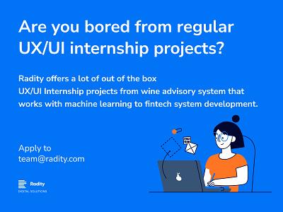 Seeking UX/UI Design Intern open position internship website animation ui design ux design ux ui design