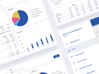 Axis - Reports, CFO Landing, Menu Pages