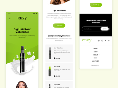 Hair Products Landing Page Responsive Mobile design interface landing product web design ui ux responsive website website design