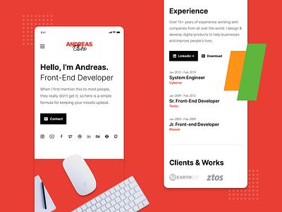 Raditian — Hugo Template Mobile Responsive logo design cv ux ui web website personal modern responsive design responsive mobile