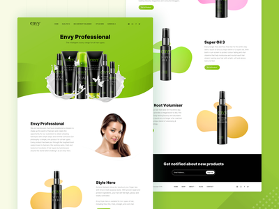 Hair Products Landing Page
