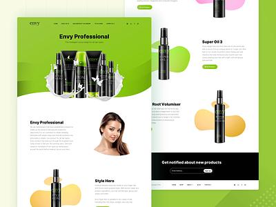 Hair Products Landing Page beauty hair website design web design website web ux ui responsive landing product interface design