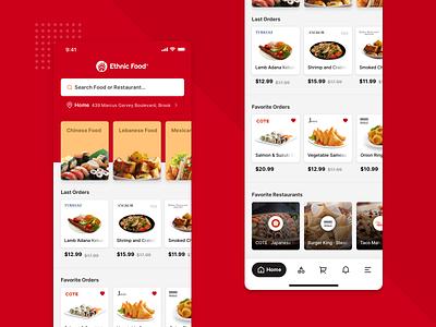 Ethnic Food - Food Delivery App food delivery ethnic ux design ui design app design modern logo design application ux delivery ui app