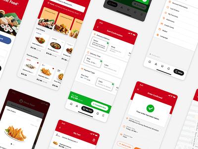 Ethnic Food - All Screens ux design ui design ux ui modern food delivery ethnic design delivery application app design app