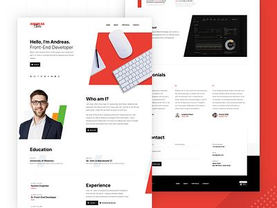 Raditian — Hugo Template case modern personal website web ux ui cv design logo