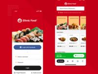 Ethnic Food - Login & Homepage