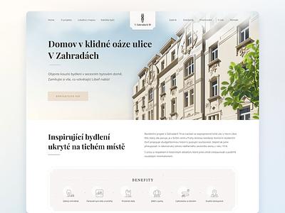 V Zahradach 19 design website creative uiux concept web-mosaica web-design
