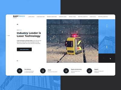 Easy Track ui illustration design website creative concept uiux web-mosaica web-design