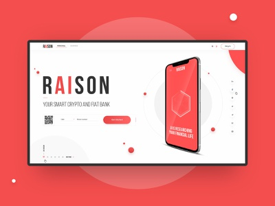 Raison.Ai crypto wallet creative fullscreen uiux minimalism concept website web-mosaica web-design