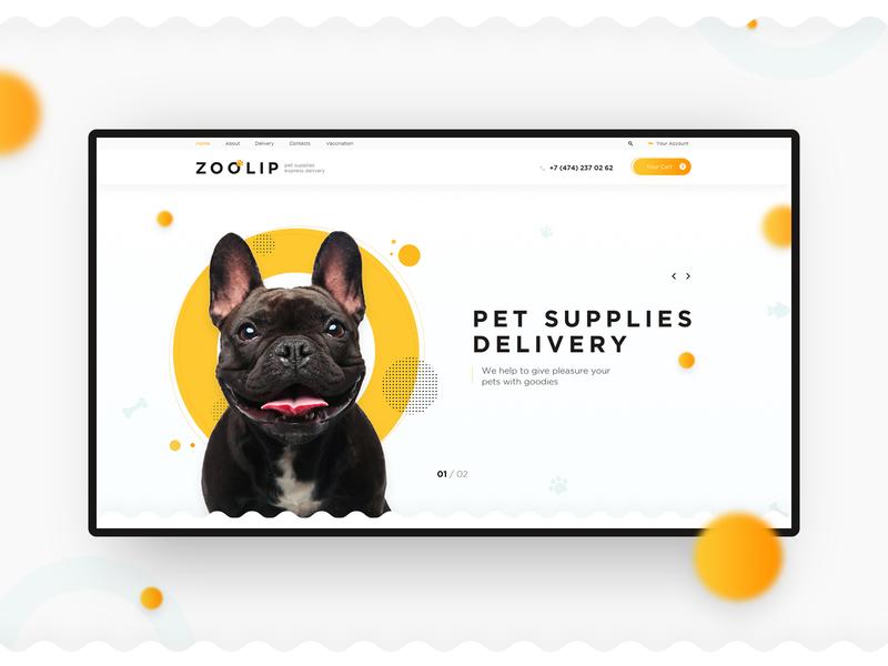 E-store petshop pets zoo preview shop estore pure clear design minimalism creative concept uiux website web-mosaica web-design