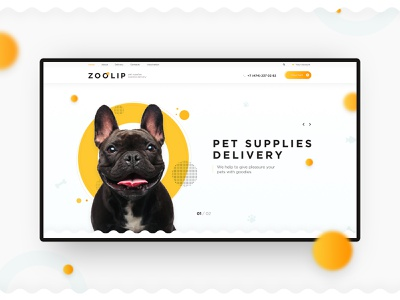 E-store petshop pets zoo preview shop estore pure clear design minimalism creative concept uiux website web-mosaica web-design