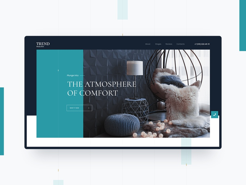 Trend Beauty Store atmosphere chairs trend furniture store store preview design minimalism creative concept website uiux web-design web-mosaica