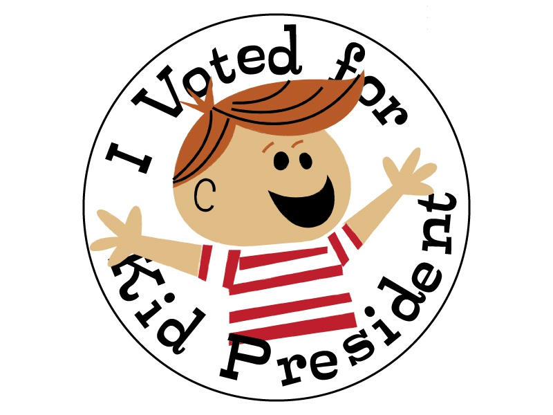 I Voted for Kid President Button pin button sticker type illustration character kid president soul pancake mockup politics usa