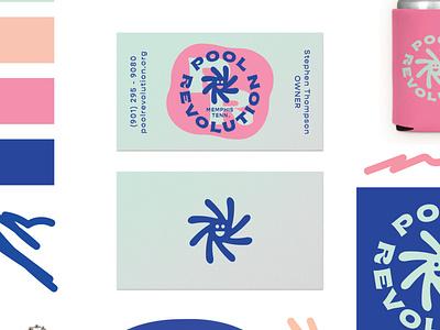 Pool Revolution biz card business card branding badge illustration logo