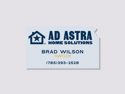 Ad Astra biz card business card kansas identity branding design icon lettering badge type logo