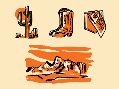 Santa Catalinas branding illustration