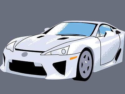 lexus car illustration lexus