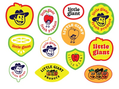little giant sticker concepts badge type brand design mascot logo branding identity illustration brand