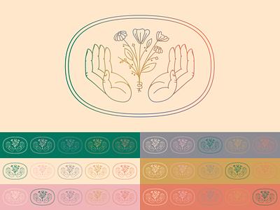 Aunt B's mark badge illustration brand linework identity branding mark design logo icon