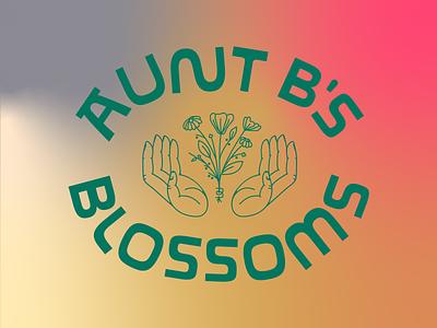Aunt B's Full Mark brand identity icon branding design lettering badge linework type logo illustration