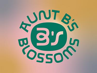 Aunt B's Monogram Mark monogram font brand icon branding design lettering badge linework type logo illustration