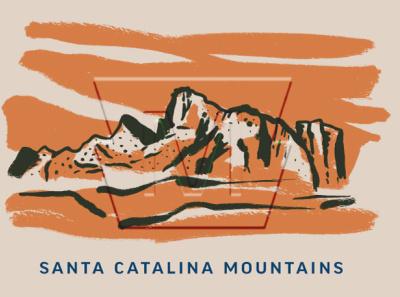 Mordka Business cards - Santa Catalina Mountains identity brand branding design lettering badge type logo illustration