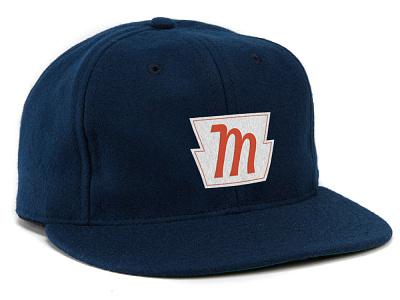 Mordka Realty hat brand icon branding design lettering badge linework type logo illustration hat