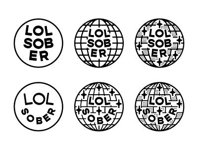 LOL Sober explorations brand identity avatar branding design badge lettering logo linework type illustration