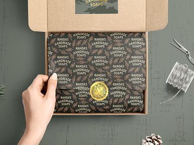 Randa's Soapbox packaging sticker badge illustration type linework lettering merch merchandise subscription box soap mockup logo design identity branding