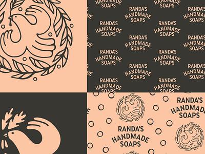 Soap Brand Bird RIP packaging identity brand soap bird branding design badge lettering linework type logo illustration