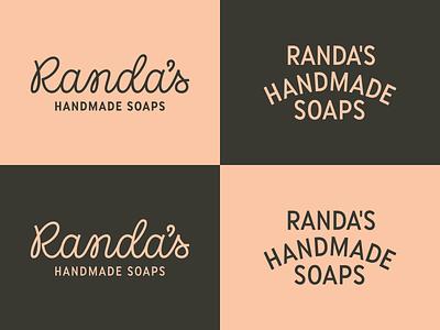 Randa's Handmade Soaps design soap identity branding linework type logo custom script lettering