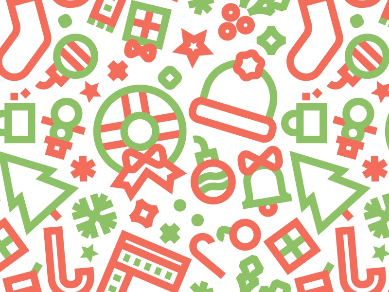 Christmas Pattern By Titus Smith Dribbble Dribbble Delectable Christmas Patterns