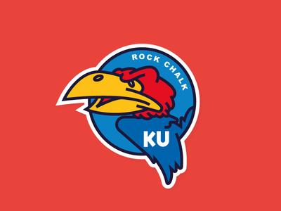 KU sticker basketball jayhawks kansas ncaa march madness