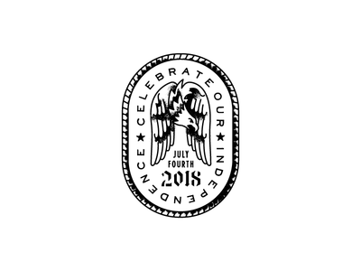 07/04/18 eagle independence day badge