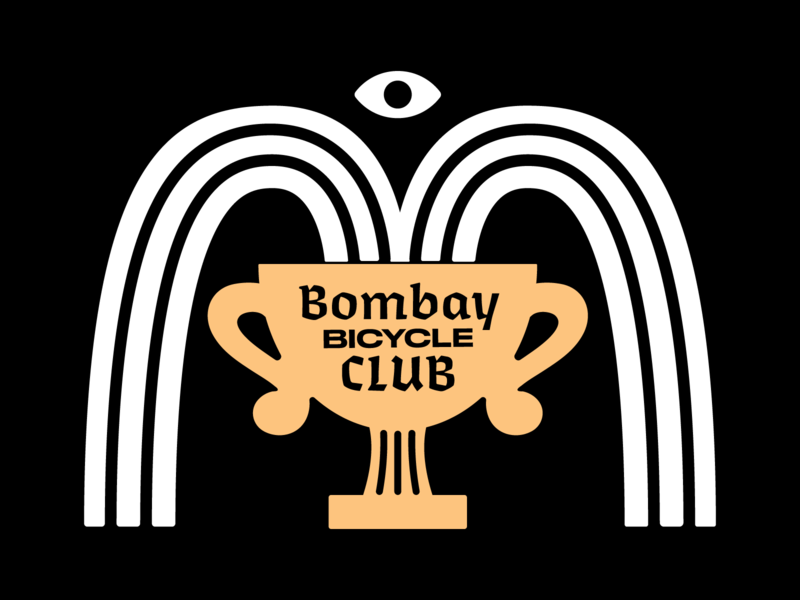 bombay bicycle club trophy illustration gig poster