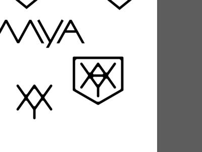 m-y-a monogram logo