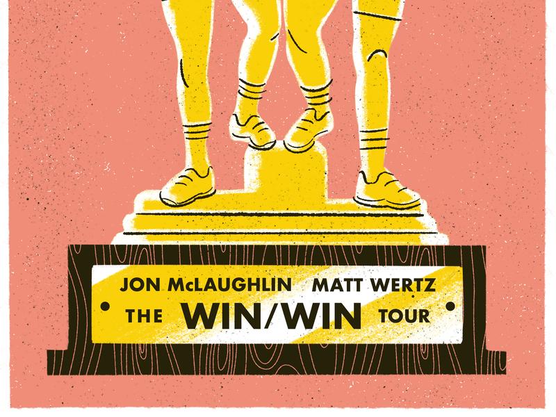 the win/win tour illustration print