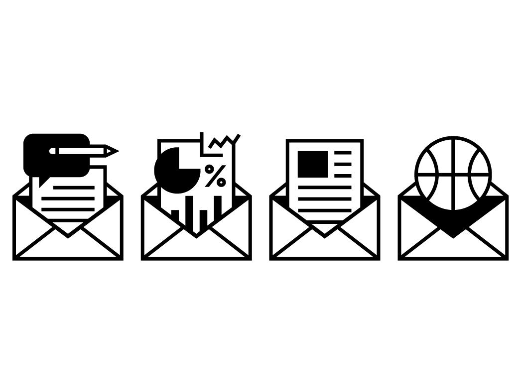 espn newsletter icons icon