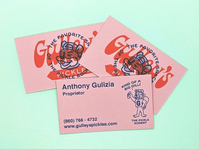 Gulley's cards logo branding illustration business cards
