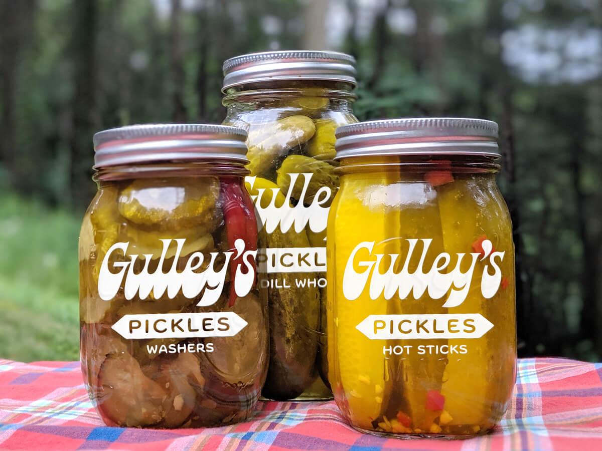 Gulley's lineup branding logo pickles