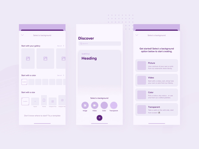 Exploring easier ways to start creating experiment ux app design ui