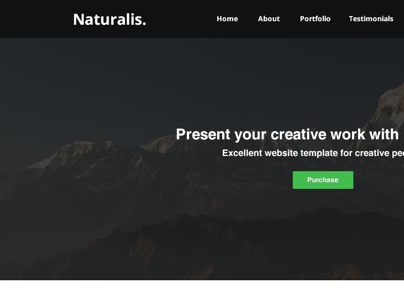 Naturalis - website template [UC] website template themeforest envato html css psd clean minimalistic flat nature modern dark light